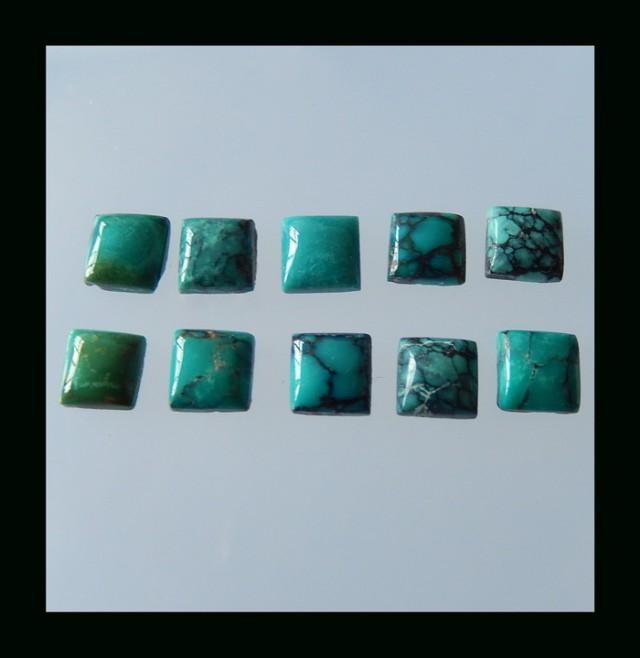 Wholesale 10 Pcs Turquoise Cabochon Set - 19.5Cts