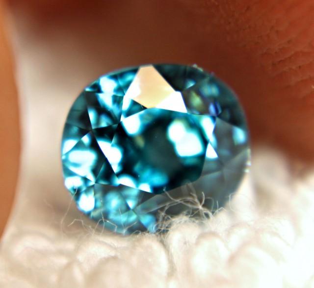 2.78 Carat Swiss Blue VVS1 Zircon - Superb