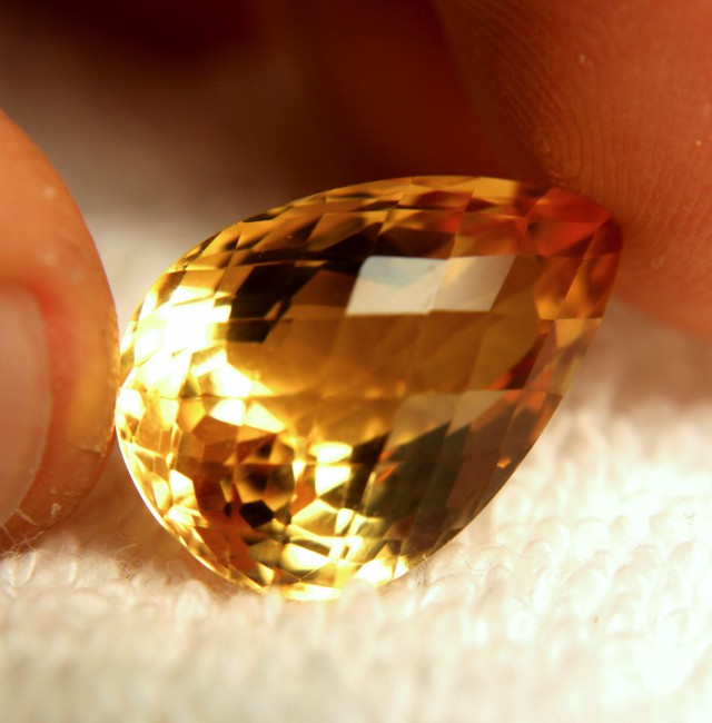 16.75 Carat VVS1 Natural South American Citrine - Gorgeous