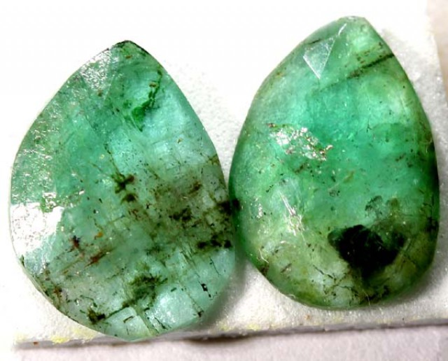 3.10  CTS  FACETED PAIR EMERALD  ADG-602