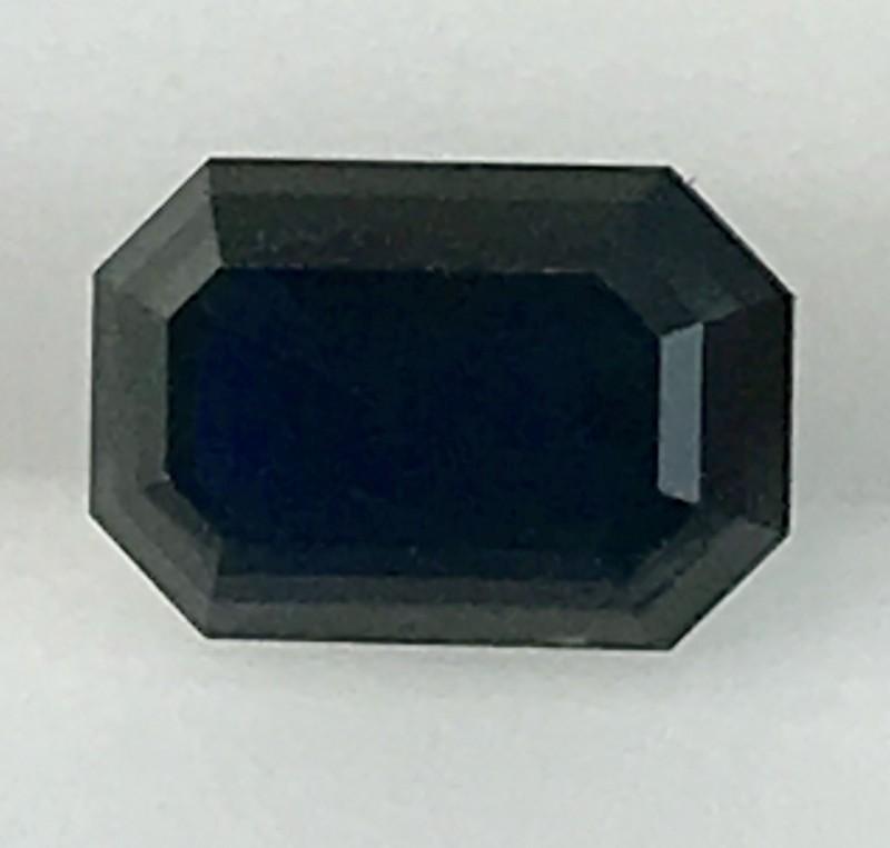 1.3ct Lusterous Emerald Cut  Blue Sapphire, Australian - REDUCED ED02