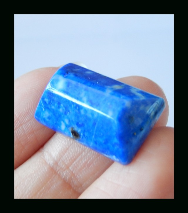 Faceted Trend - Lapis Lazuli Faceted Cabochon - 23x13x7 MM