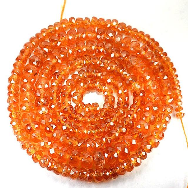 82.02 Cts Natural Mandrine Orange Spessartite Garnet Beads Namibia