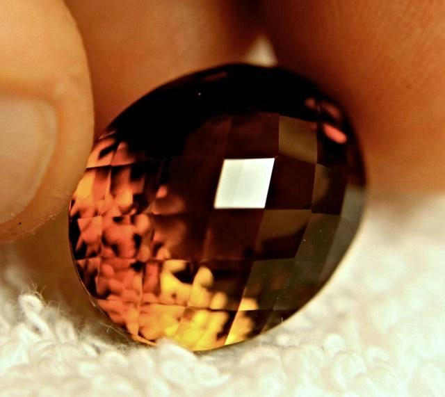 31.95 Carat Golden Brown South American VVS1 Topaz
