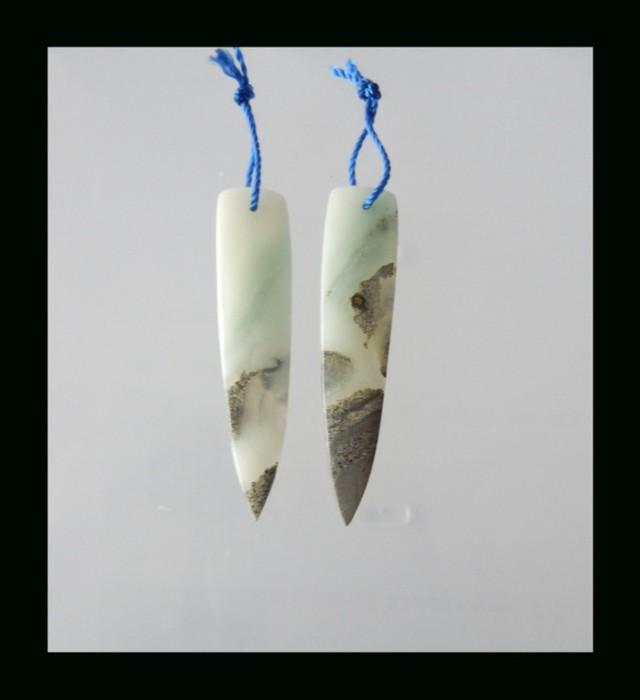 Natural Amazonite Earring Bead - 46x11x3 MM(B1804383)