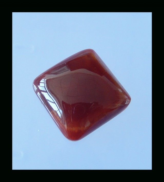 55CTS Pure Zhangguo Red Agate Gemstone Cabochon - 25x10 MM
