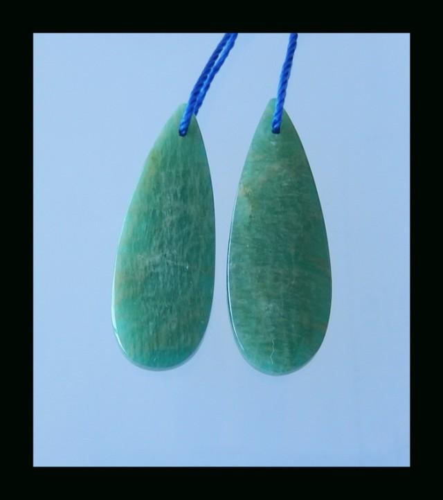 Natural Amazonite Earring Bead - 32x11x5 MM