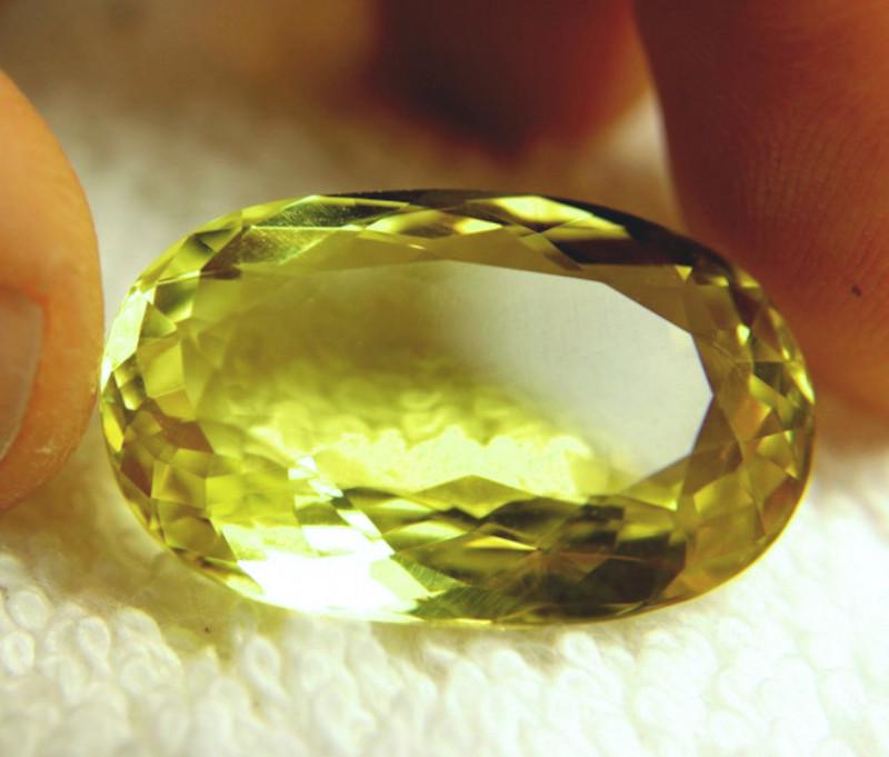 35.68 Carat IF/VVS1 Vibrant Yellow Quartz - Superb
