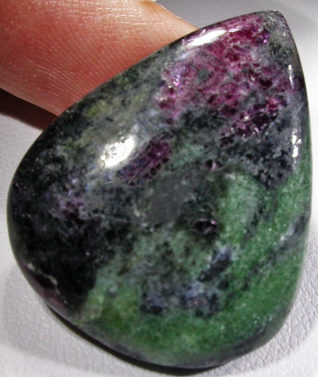 35.9 CTS RUBY AND ZOISITE POLISHED STONES. [MGW4535]