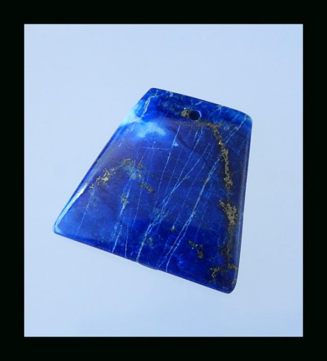 Natural Lapis Lazuli Gemstone Bead - 25x25x4 MM