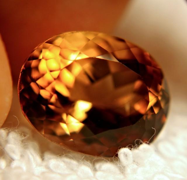 13.79 Carat Golden Brown Brazil VVS1 Topaz