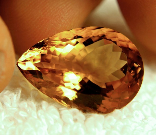 19.68 Carat Exotic Golden Citrine - Gorgeous