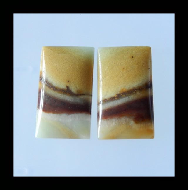 90.5Cts Natural Amazonite Cabochon Pair - 35x20x6 MM