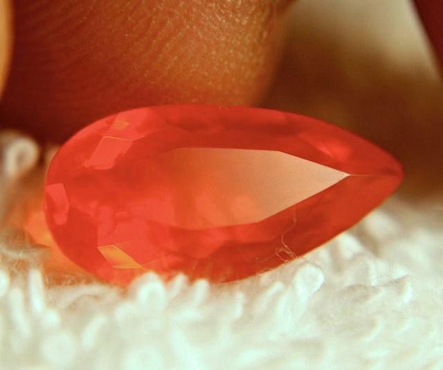 2.44 Carat Fiery, Flashy Mexican Orange Fire Opal - Lovely