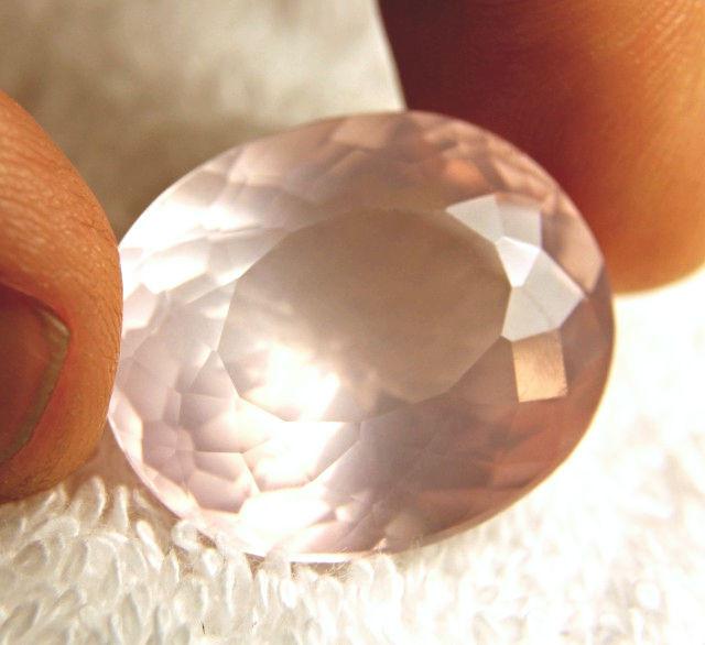 53.9 Carat VVS Pink African Quartz - Lovely