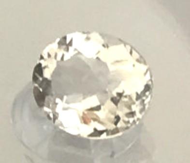 Sparkling 1.85 Pale Peach (near Colorless)  Morganite, VVS EBA12 G241