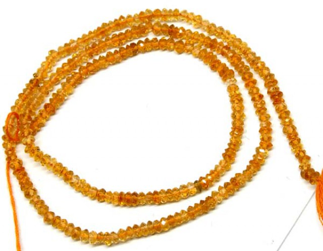 CITRINE  BEADS DRILLED FACETED 22  CTS NP-534