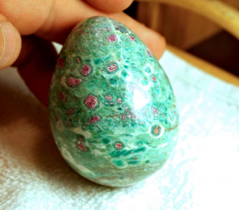 1005 Carat Ruby Fuchsite Egg - Cool Display Piece - 63.9mm