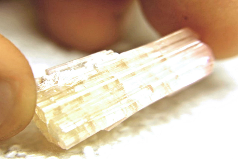 27.84 Carat Natural Orangy / Pink Tourmaline Specimen - Cool Collectors Sto