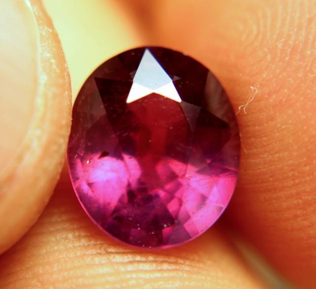 4.96 Carat Fiery Purplish Red Ruby - Lovely
