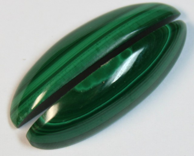 27.65 CTS MALACHITE PAIR OF STONES TOP GLOSSY POLISH ON PAIR