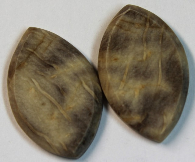 21.25 CTS JASPER PAIR POLISHED STONE GREAT RANGE IN STORE