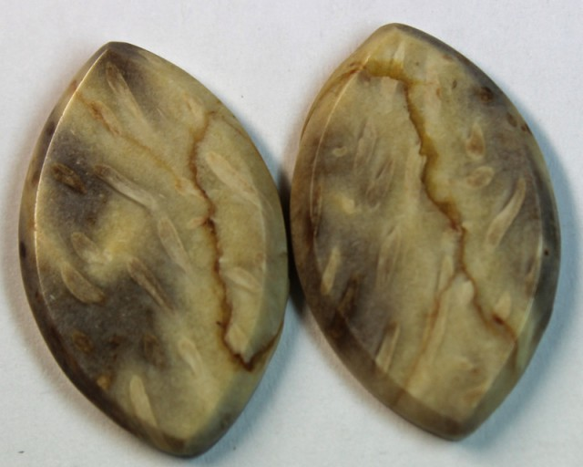 24.55 CTS JASPER PAIR POLISHED STONE GREAT RANGE IN STORE