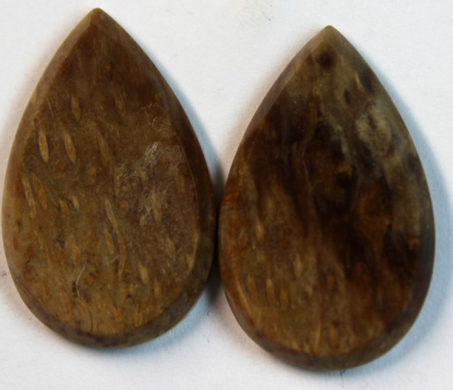 28.25 CTS JASPER PAIR POLISHED STONE GREAT RANGE IN STORE