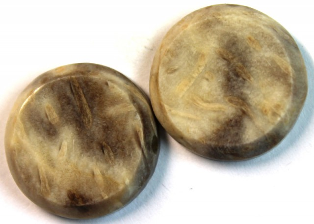 15.50 CTS JASPER PAIR POLISHED STONE GREAT RANGE IN STORE