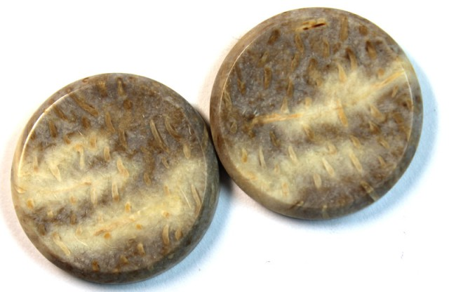 32.80 CTS JASPER PAIR POLISHED STONE GREAT RANGE IN STORE