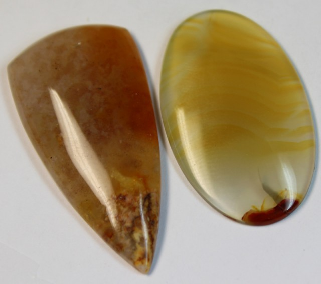 54.55 CTS 2 STONE AGATE PARCEL DEAL