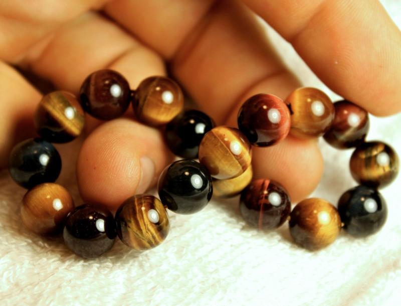 149.5 Tcw.  China Tiger Eye Strand - Bracelet Length