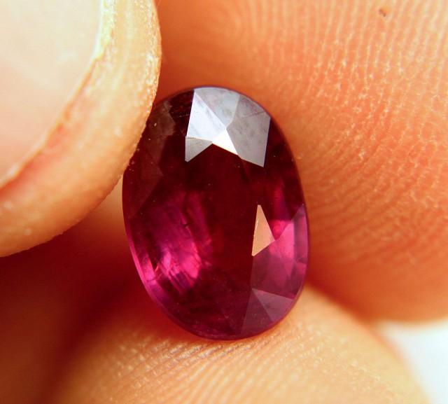 4.25 Carat Purplish Red Fiery Ruby - Gorgeous