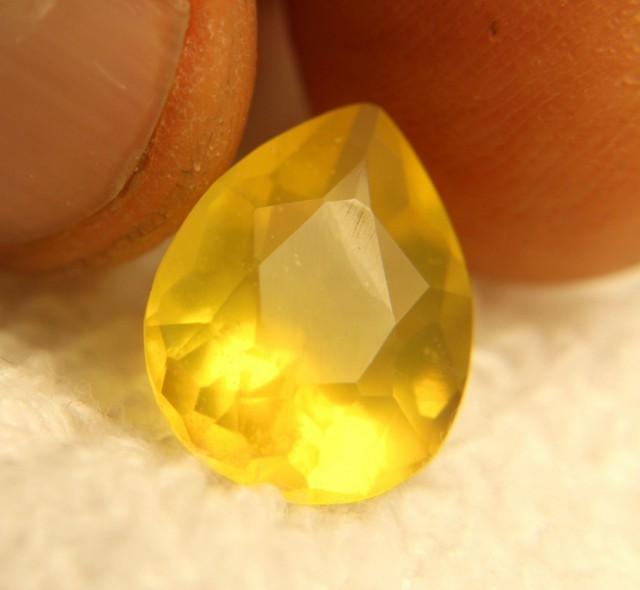 4.65 Carat Pear Cut Yellow Mexican Fire Opal - Beautiful