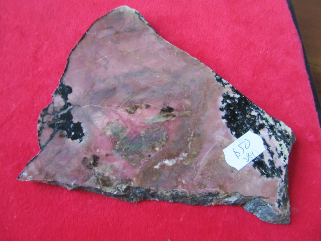 0.292 KILO   AUSSIE  RHODONITE POLISHED SLAB  AGR760