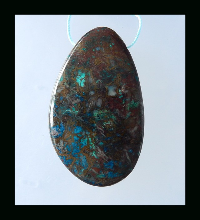 Natural Chrysocolla Pendant Bead For Heavy Pendant(N035)