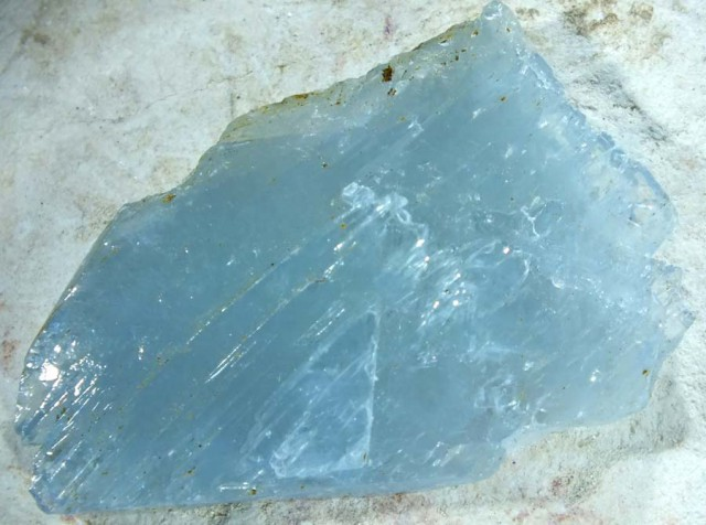 96.30 CTS BARITE  SPECIMEN LIGHT BLUE[MGW 4555]