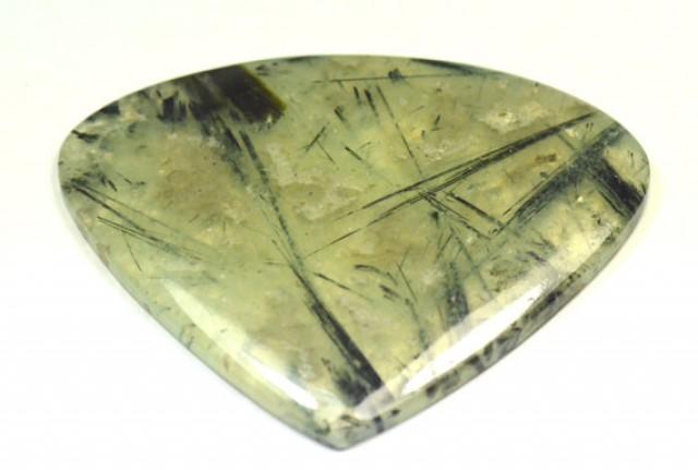 Prehnite cabochon heart shape green large