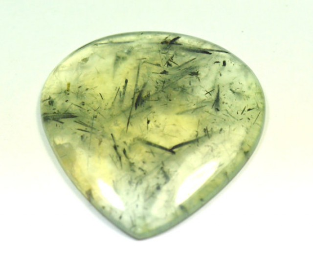 Prehnite cabochon heart drop shape green large