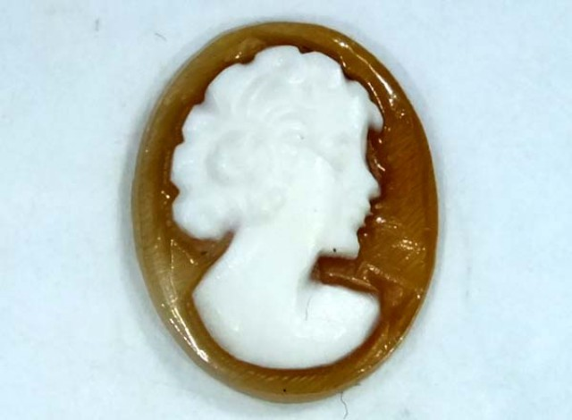 CONCH SHELL CAMEO 1.30  CTS.  CG-1605