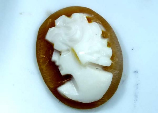 CONCH SHELL CAMEO  1.50 CTS.  CG-1630