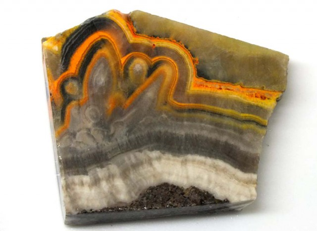 201.5 CTS BUMBLE  BEE JASPER ROUGH SLAB -INDONESIA [F5676 ]