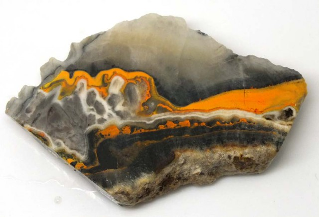 129.1 CTS BUMBLE  BEE JASPER ROUGH SLAB -INDONESIA [F5683 ]