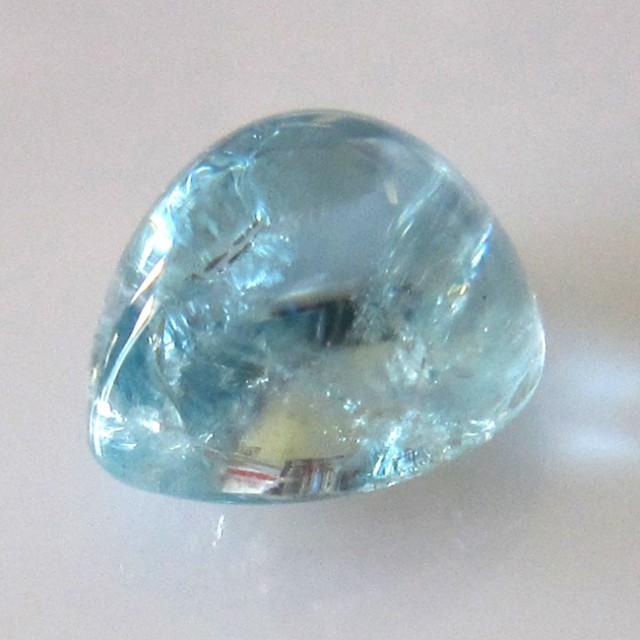 5.09cts Natural Aquamarine Pear Cabochon
