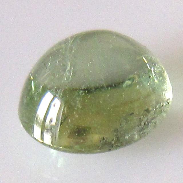 3 44cts natural green beryl oval cabochon