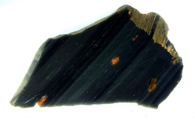 Rough obsidian slab
