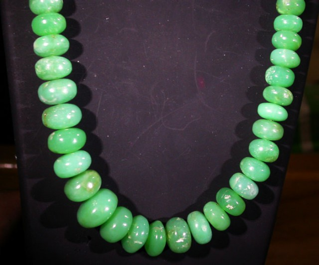 212 CTS 11 MM CHRYSOPRASE BEADS [MGW4634]