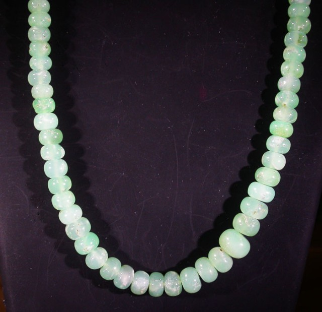 100 CTS 7 MM CHRYSOPRASE BEADS [MGW4646]