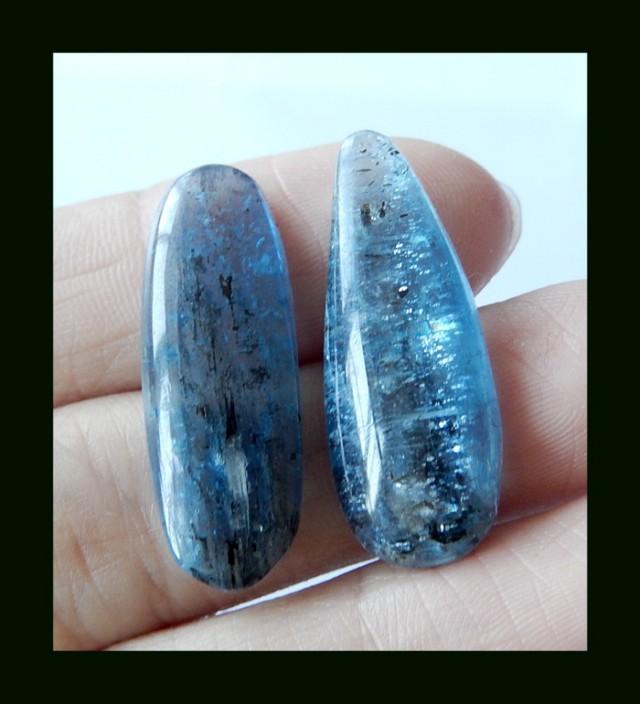 Natural Blue Apatite Cabochon , 28x10x4 MM