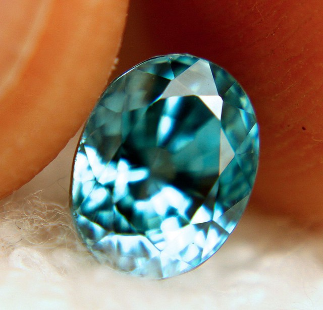 3.50 Carat VVS Vivid Blue Zircon - Superb